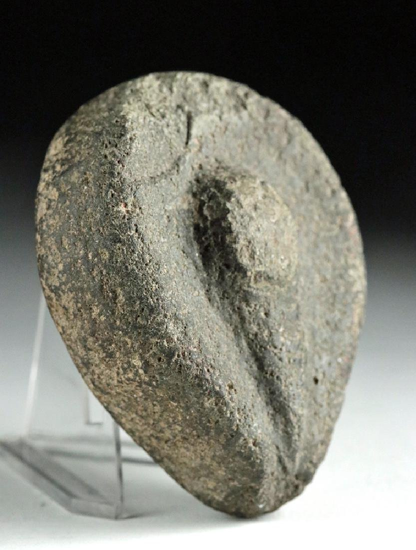 Rare Native American Stone Votive - Stylized Vulva - 3