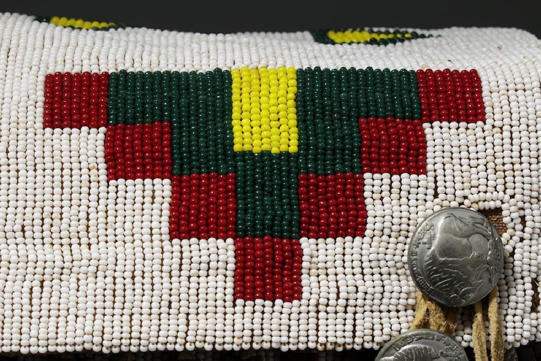 Mid-20th C. Native American Plains Indian Bead Satchel - 9