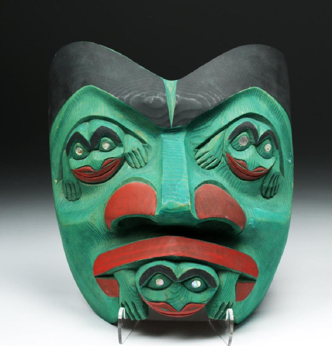 20th C. Pacific Northwest Signed Mask - Doug LaFortune