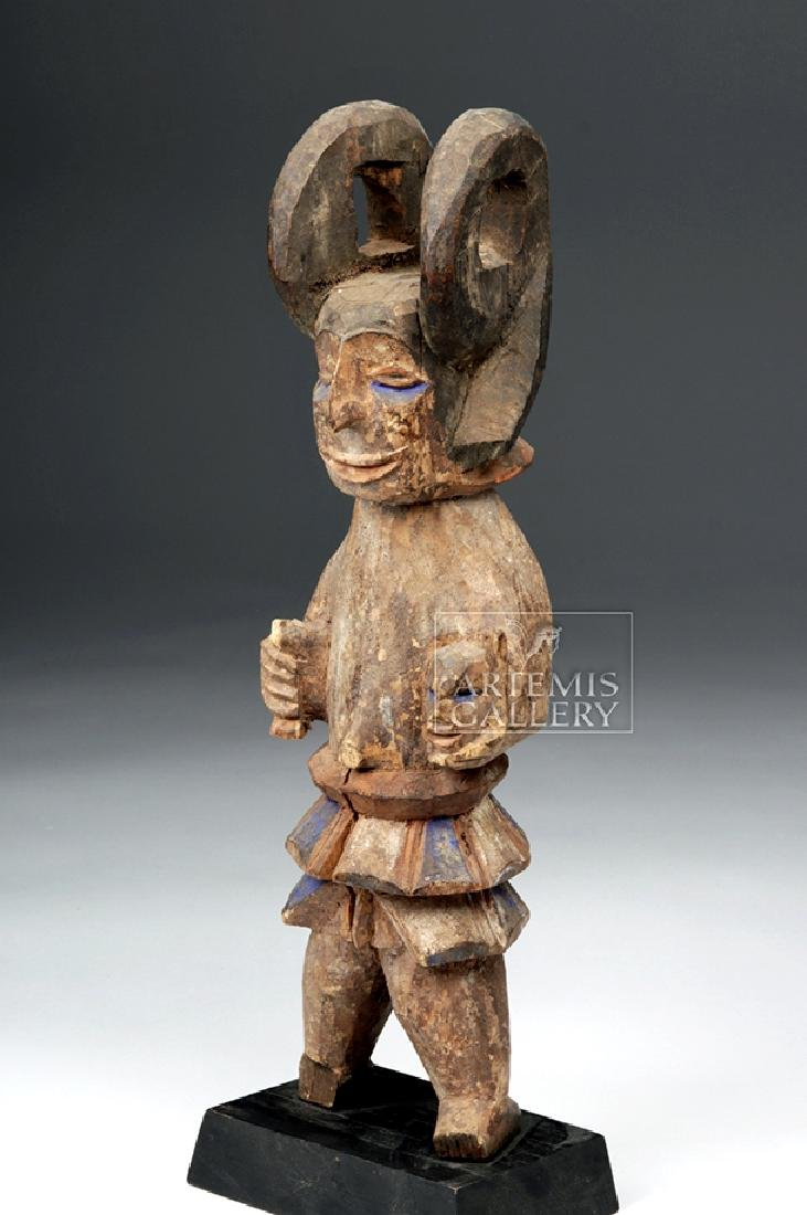 Early 20th C. African Wooden Ibibio Figure