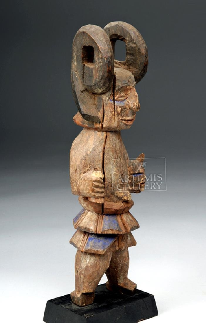 Early 20th C. African Wooden Ibibio Figure - 5