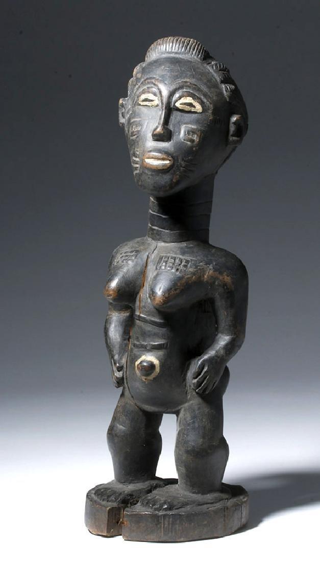 Early 20th c. African Baule Blolo Bian Wooden Figure