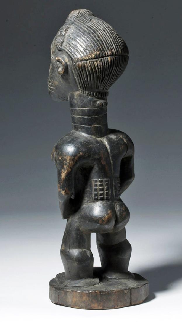 Early 20th c. African Baule Blolo Bian Wooden Figure - 2
