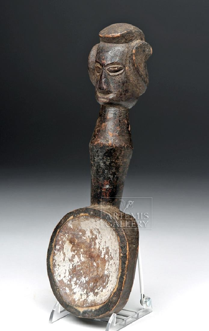 Early to Mid 20th C. African Igbo Wooden Chalk Spoon