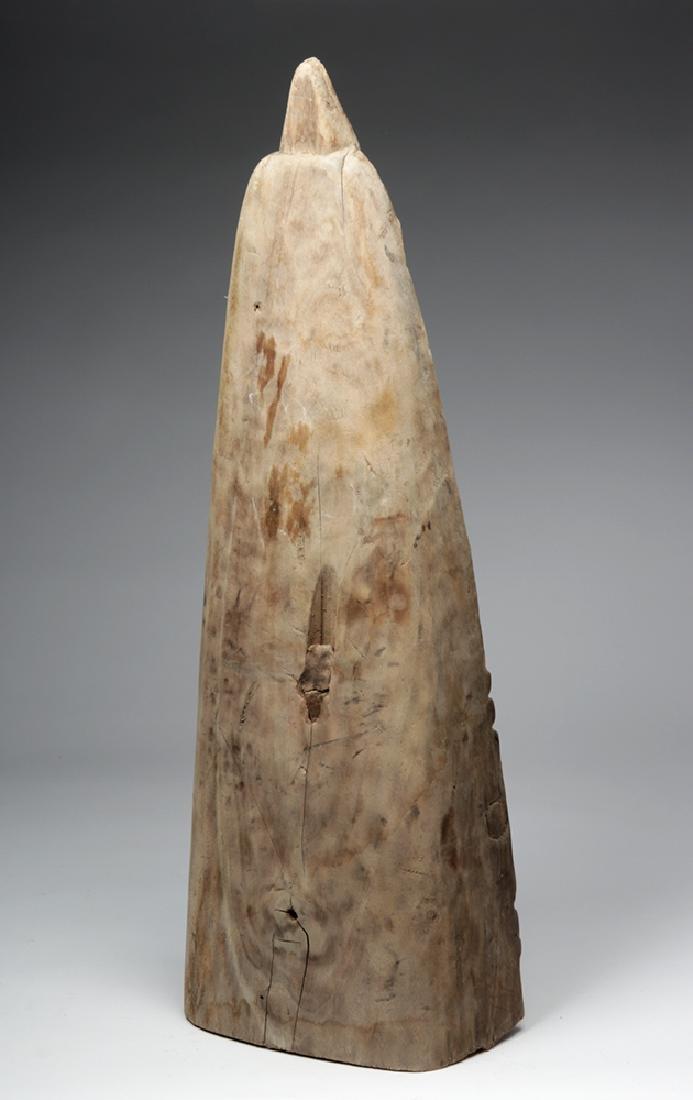 Rare 20th C. Papua New Guinea Canoe Prow w/ Dolphin - 3