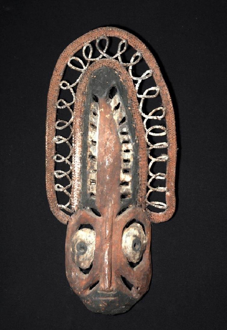 20th C. Papua New Guinea Wood and Reed Yam Mask