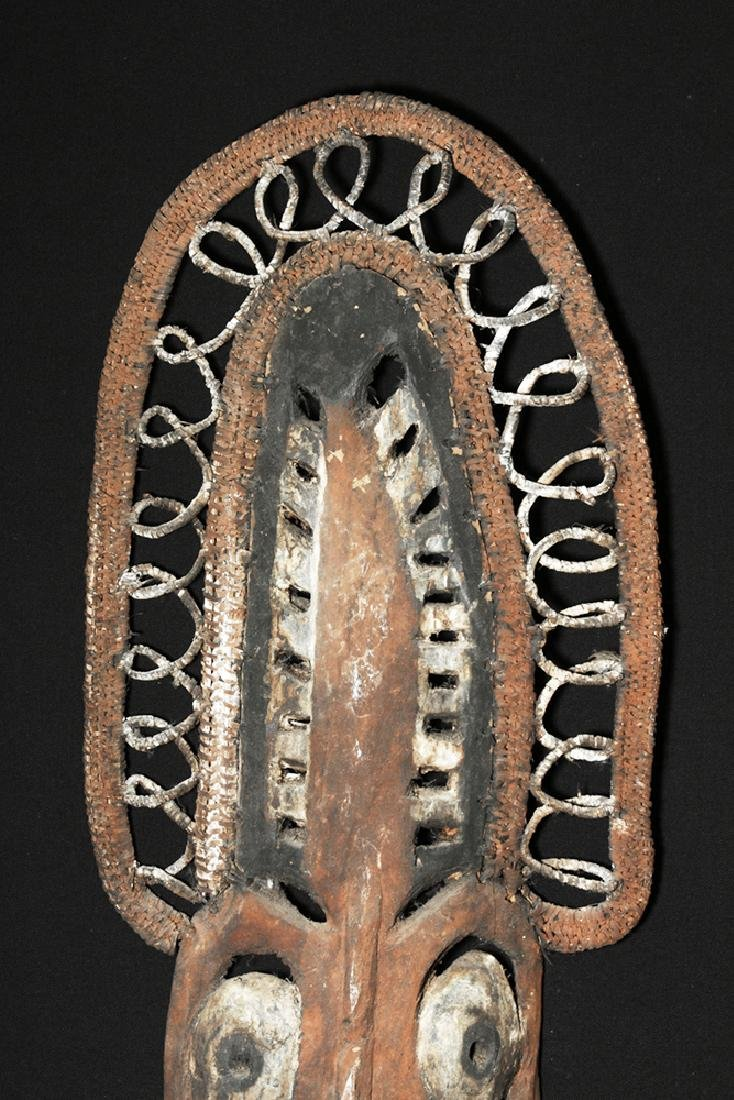 20th C. Papua New Guinea Wood and Reed Yam Mask - 2