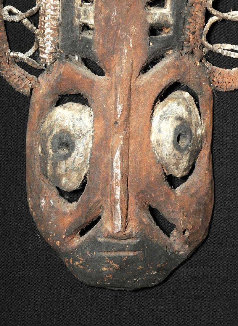 20th C. Papua New Guinea Wood and Reed Yam Mask - 3