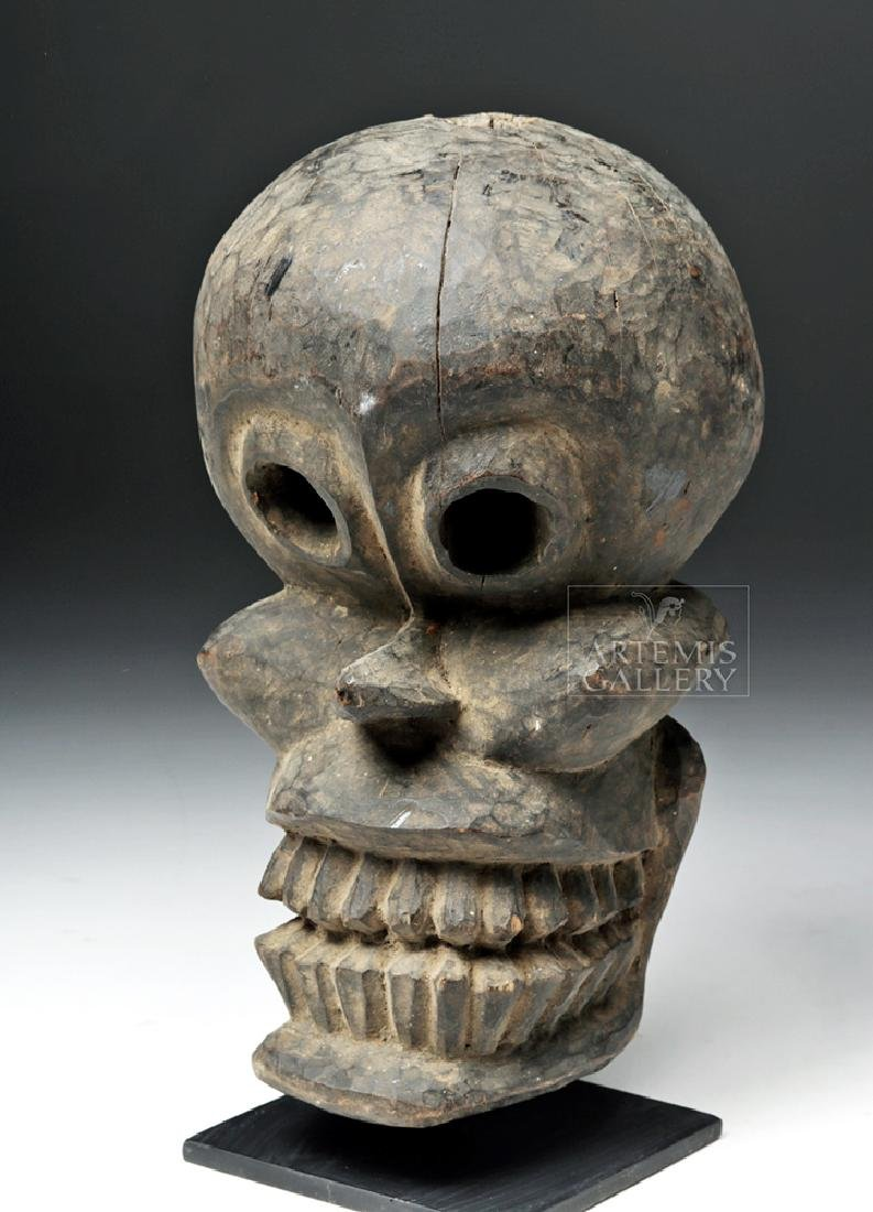 Early 20th C. Papua New Guinea Wooden Trophy Head
