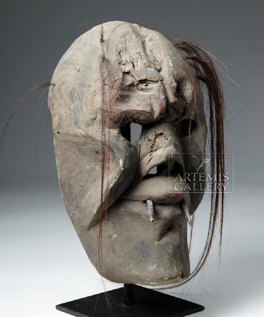 20th C. Mexican Yaqui Wood Pascola Festival Mask - 5