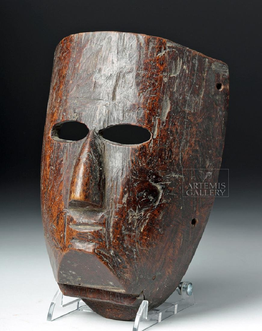 Superb 19th C. Mexican Wooden Festival Mask