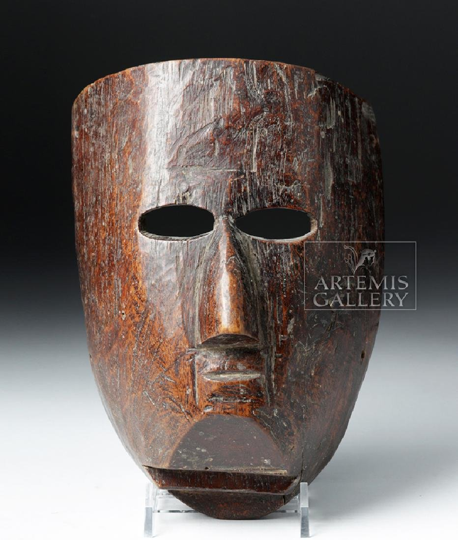 Superb 19th C. Mexican Wooden Festival Mask - 2