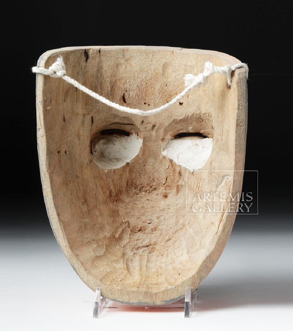 20th C. Mexican Wood Maringuilla Mask for Winter Dance - 4