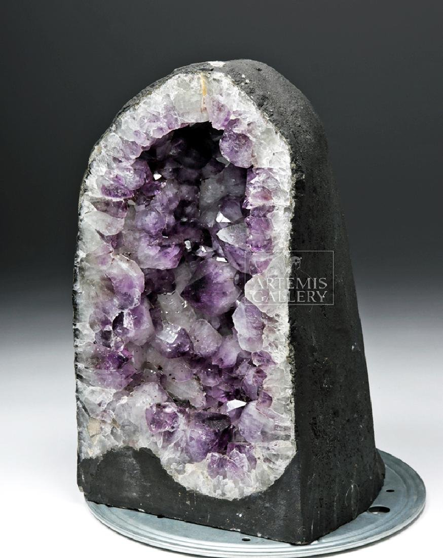 Beautiful Brazilian Large-Crystal Amethyst Geode