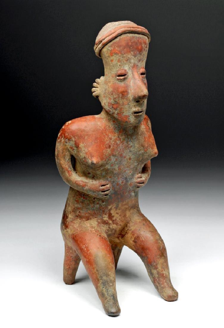 Nayarit Pottery Redware San Sebastian Seated Female