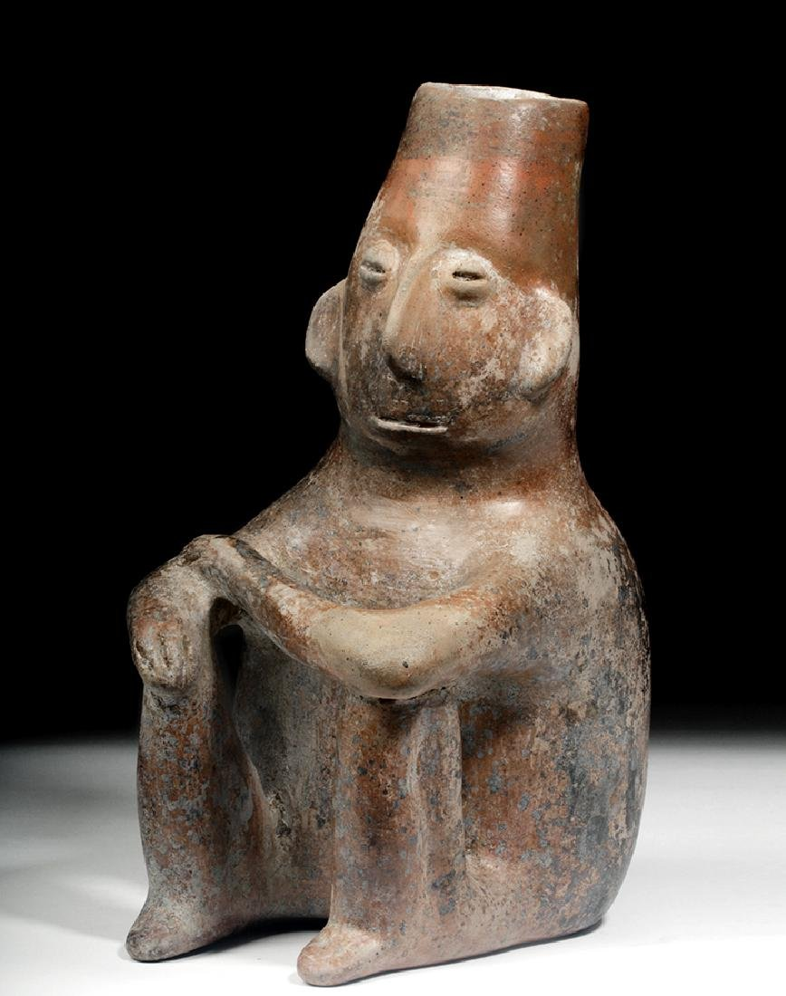Colima Pottery Seated Shaman Vessel