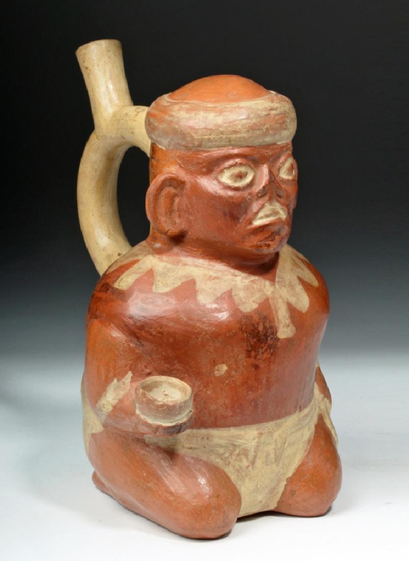 Moche Pottery Vessel w/ Leishmaniasis Victim