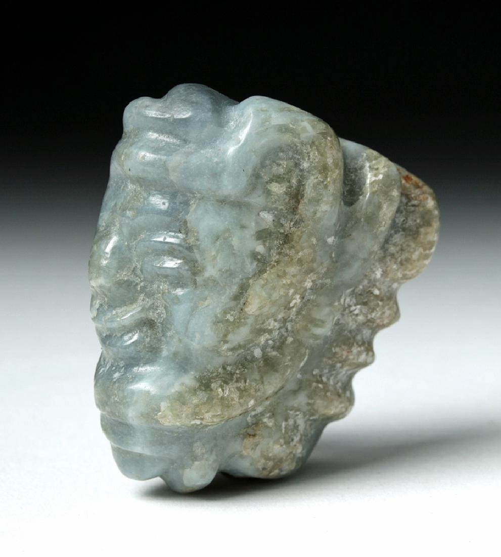 Mayan Blue Jade Pendant of a Lord