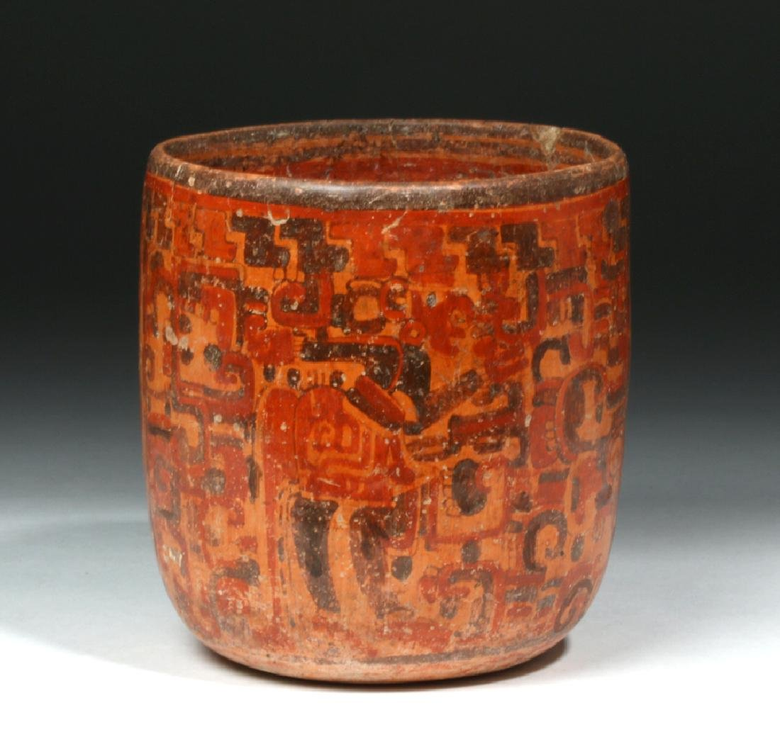 Mayan Polychrome Cylinder - Standing Lord