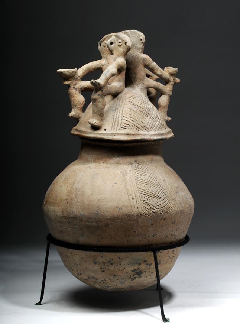 Colombia Magdalena Earthenware Lidded Jar - Couple