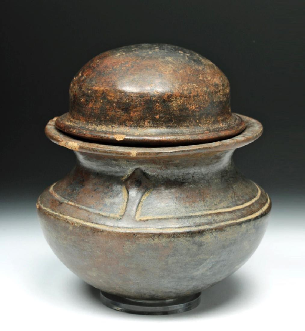 Horqueta Pottery Lidded Jar w/ Serpentine Figures