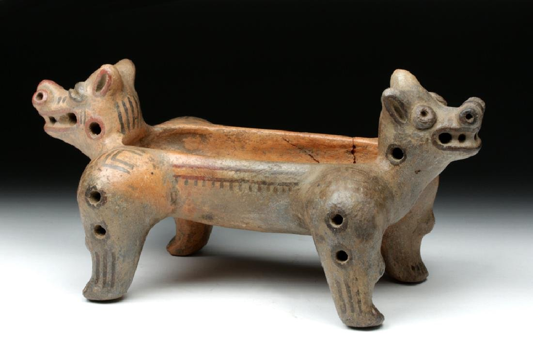 Costa Rican Pottery Double Headed Vessel - 2
