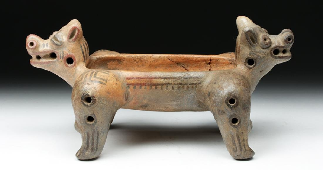 Costa Rican Pottery Double Headed Vessel - 5