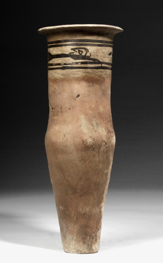 Tall Colombian Tuza Decorated Terracotta Urn