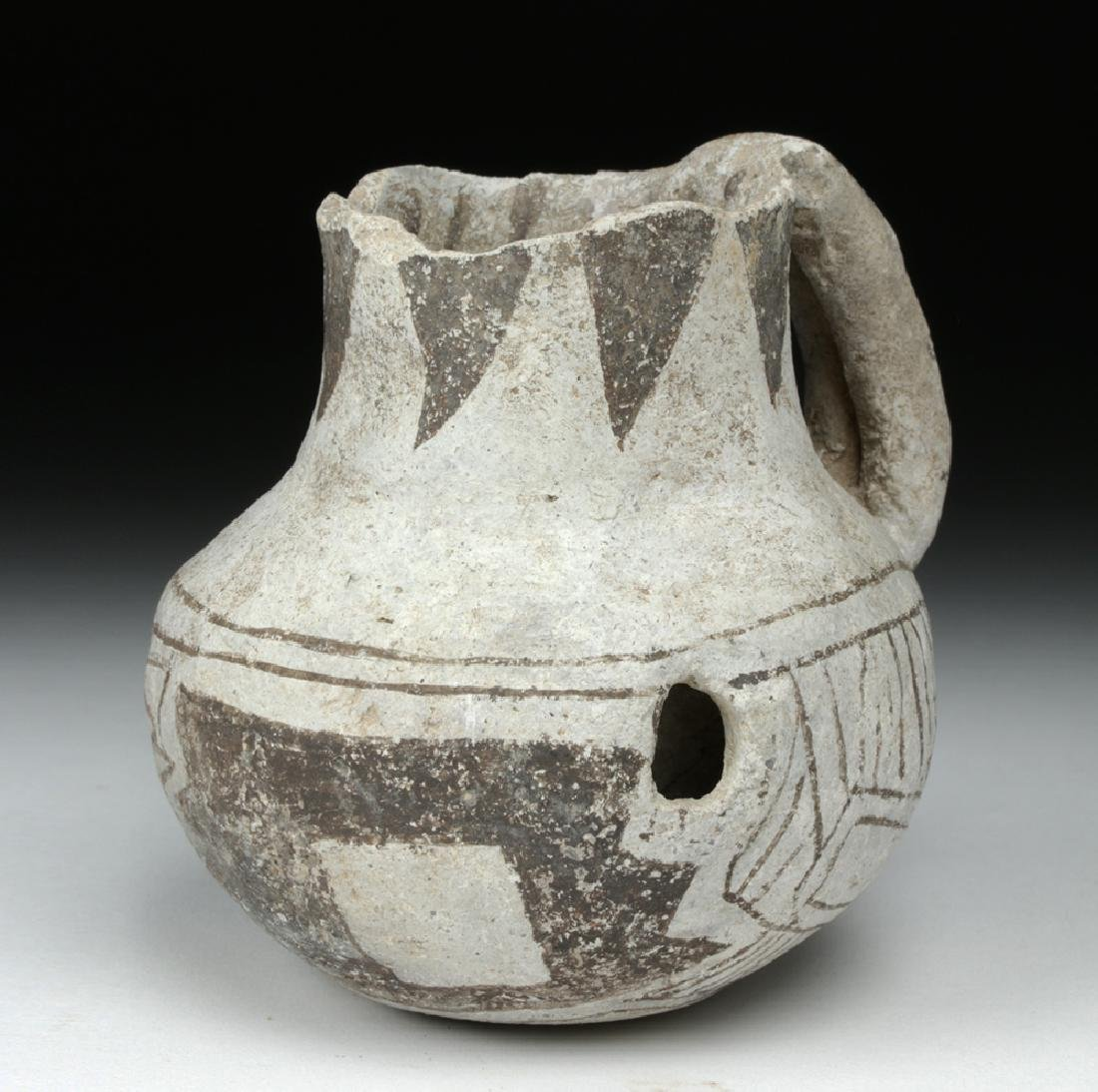 Anasazi Black on White Pottery Dribble Mug