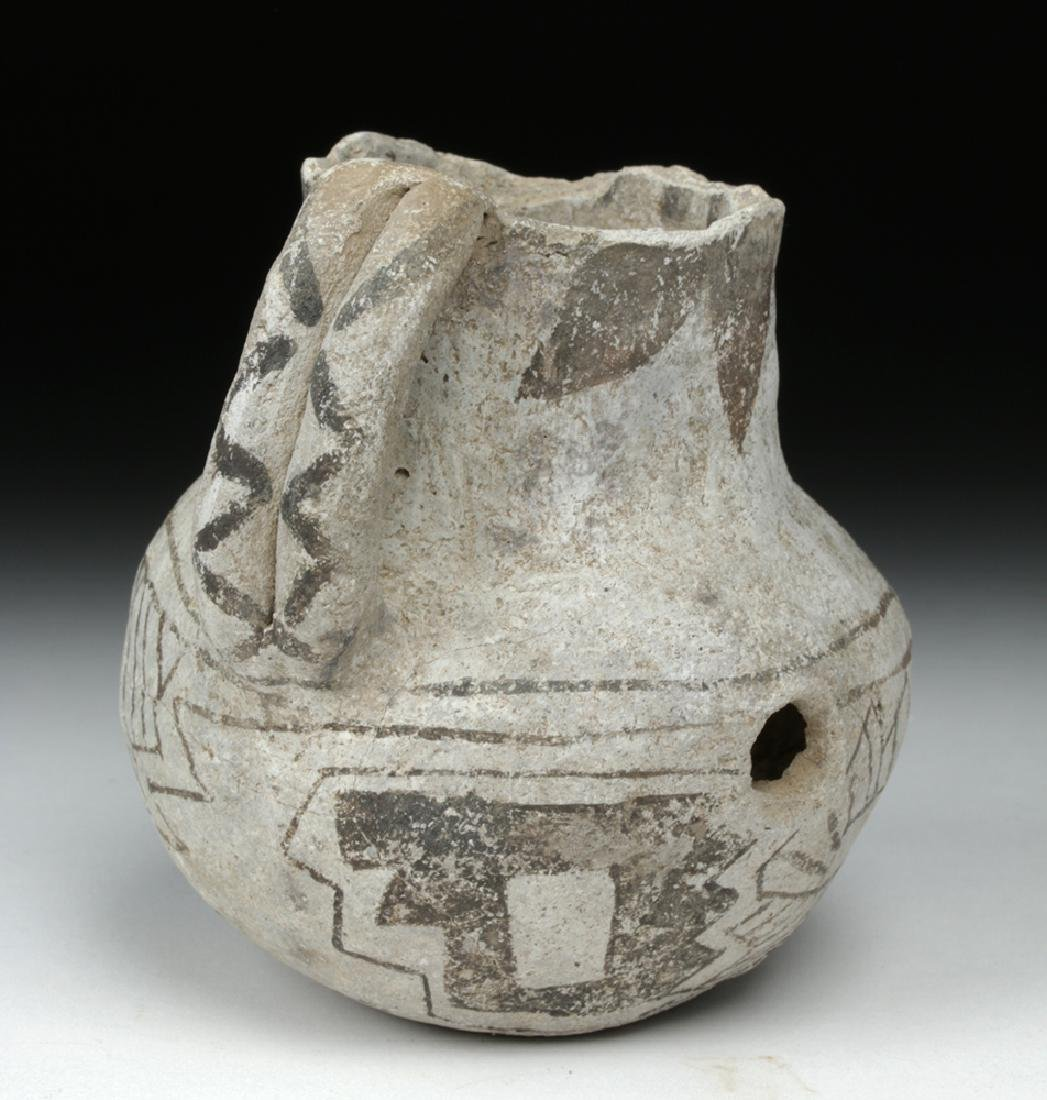 Anasazi Black on White Pottery Dribble Mug - 3