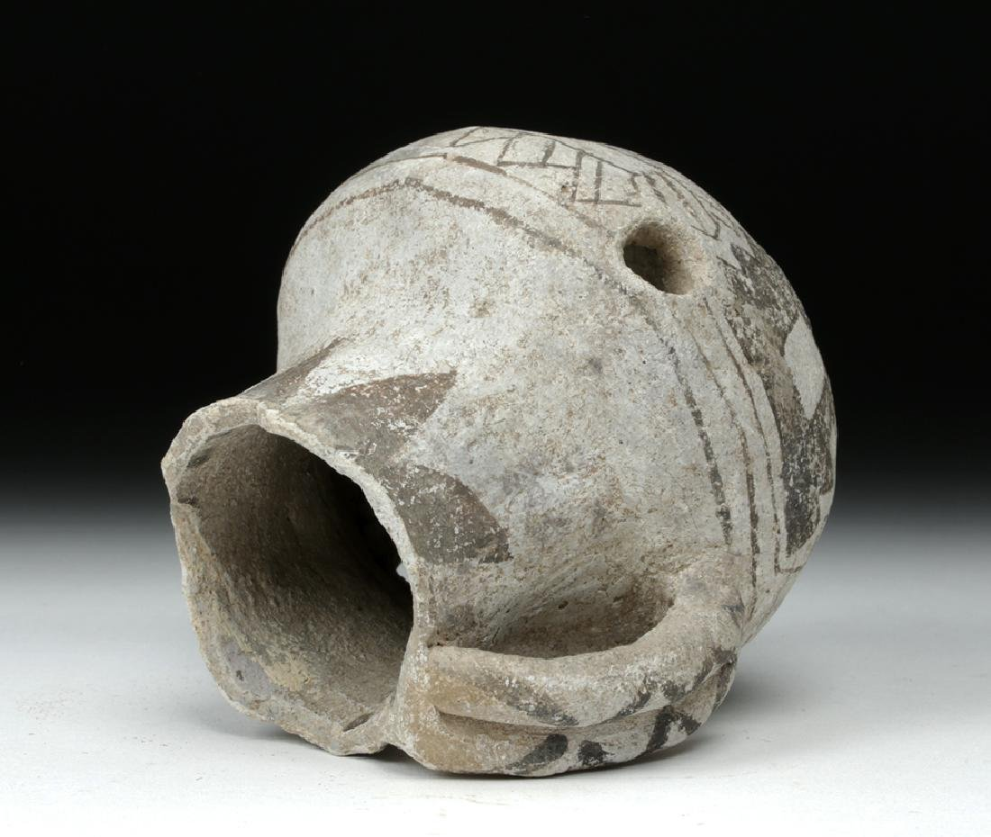Anasazi Black on White Pottery Dribble Mug - 5