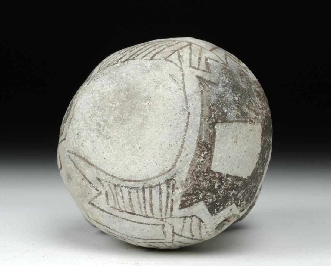 Anasazi Black on White Pottery Dribble Mug - 6