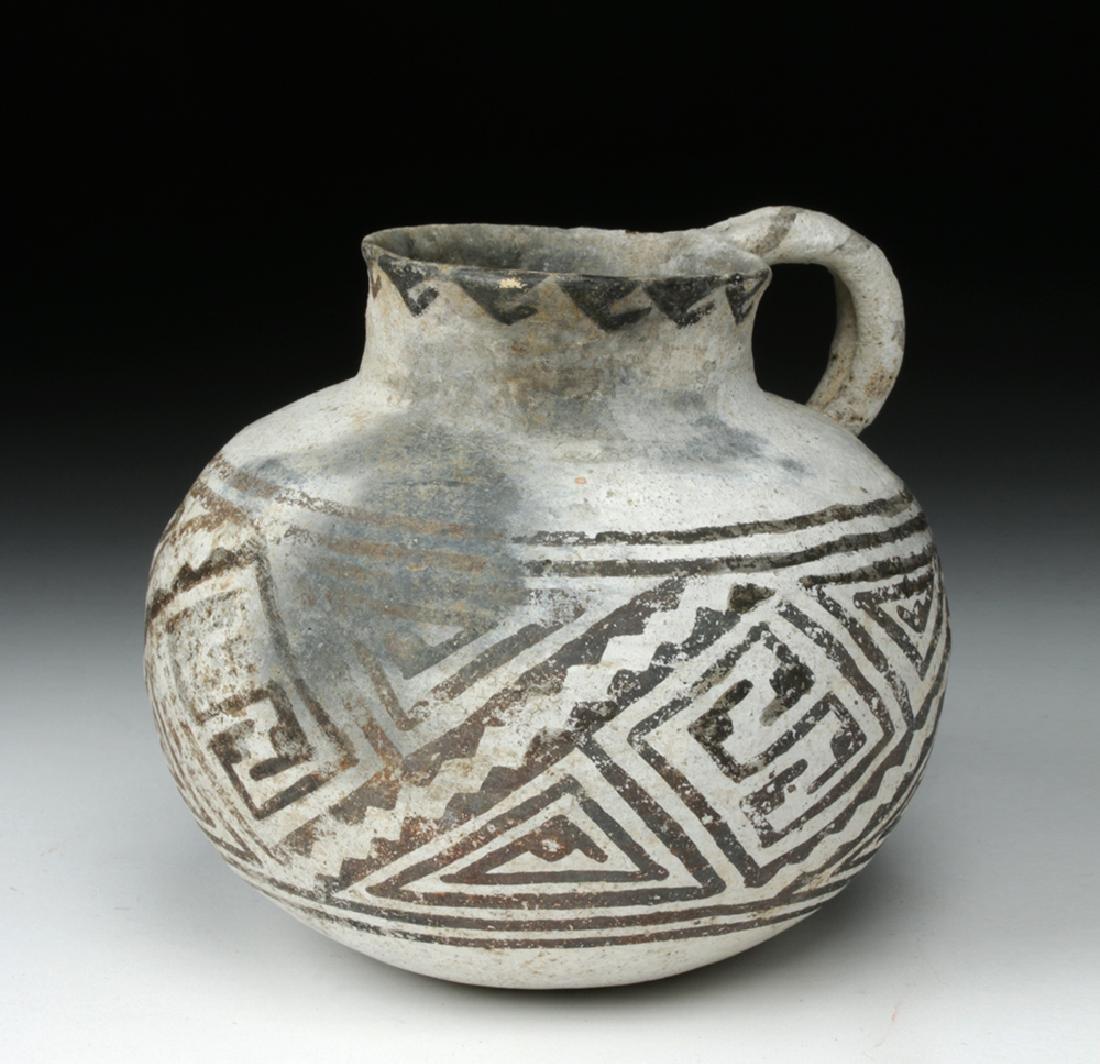 Mogollon Black on White Pottery Mug