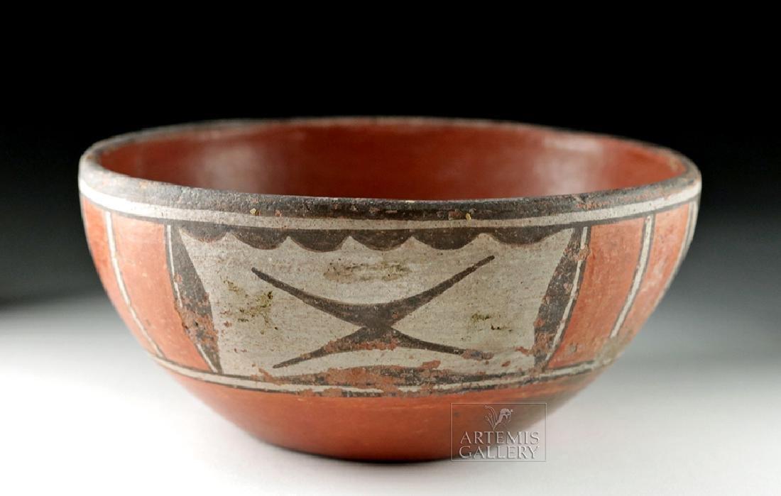 20th C. Native American Santo Domingo Pottery Bowl