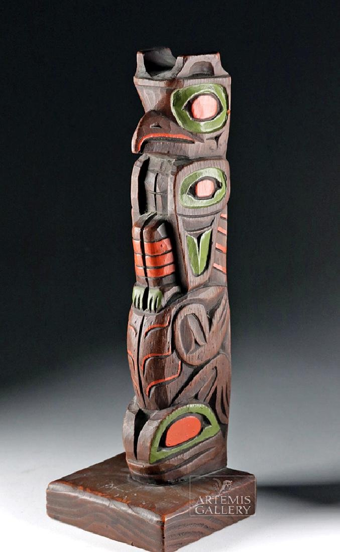 20th C. Northwest Coast Haida / Tlingit Wood Totem Pole