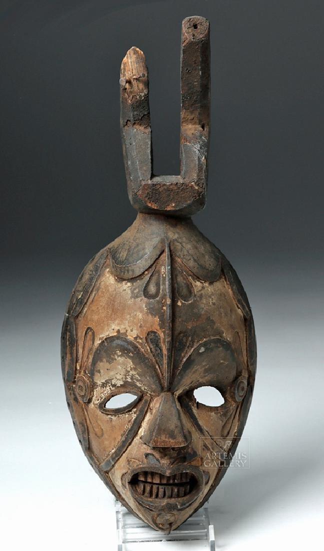 Early 20th C. Nigerian Igbo Wood Okoroshi Mask