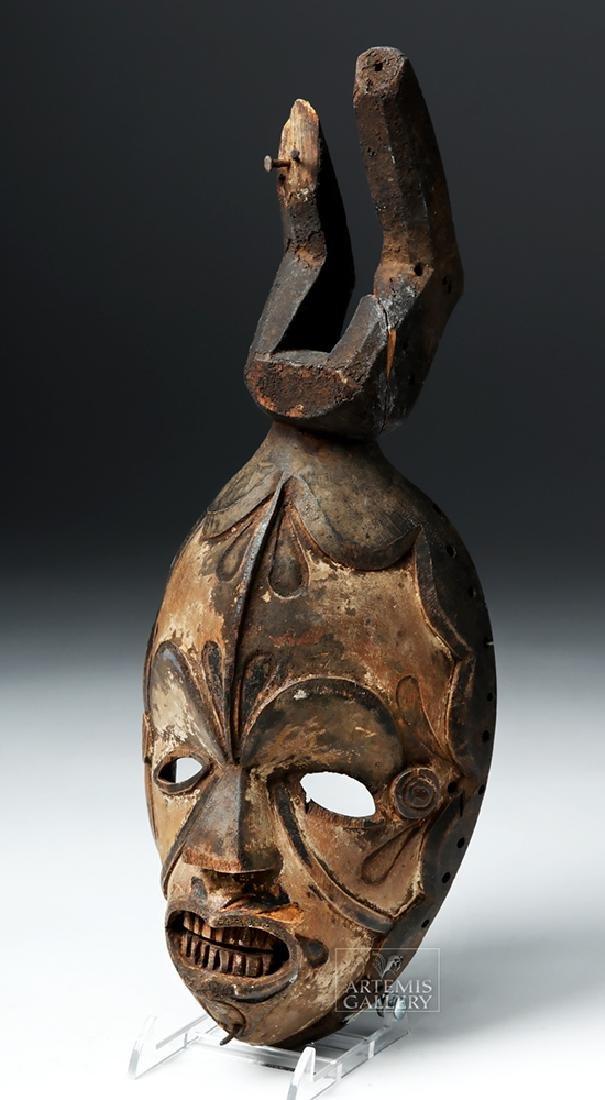 Early 20th C. Nigerian Igbo Wood Okoroshi Mask - 2