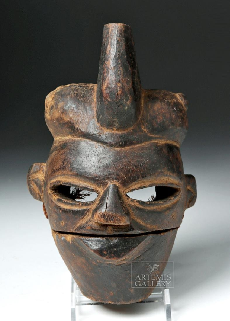 Early 20th C. Nigerian Wooden Ogoni Articulated Mask
