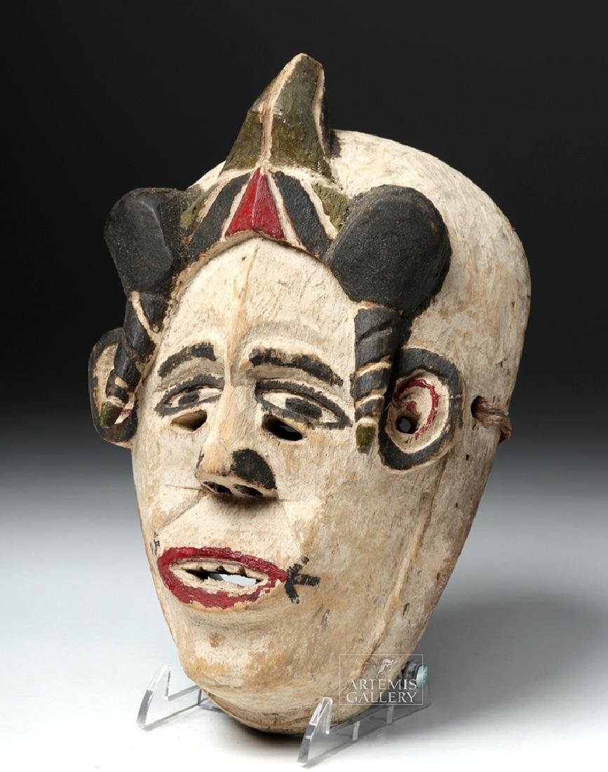 Early 20th C. Nigerian Igbo Wooden Okperegede Mask
