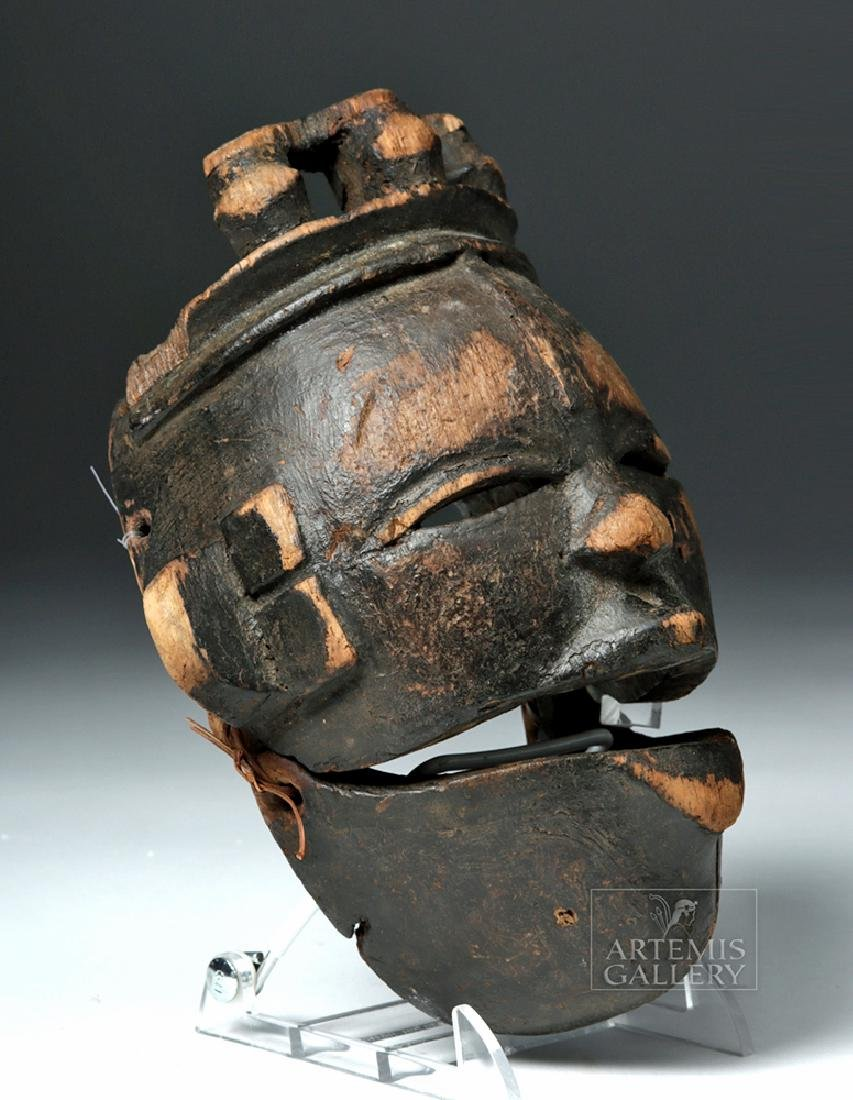 Early 20th C. Nigerian Ogoni Articulated Wood Mask