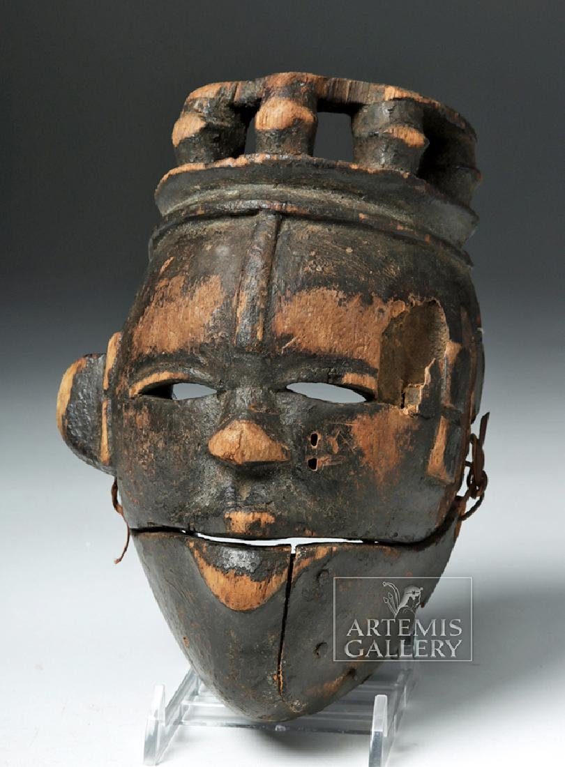 Early 20th C. Nigerian Ogoni Articulated Wood Mask - 2