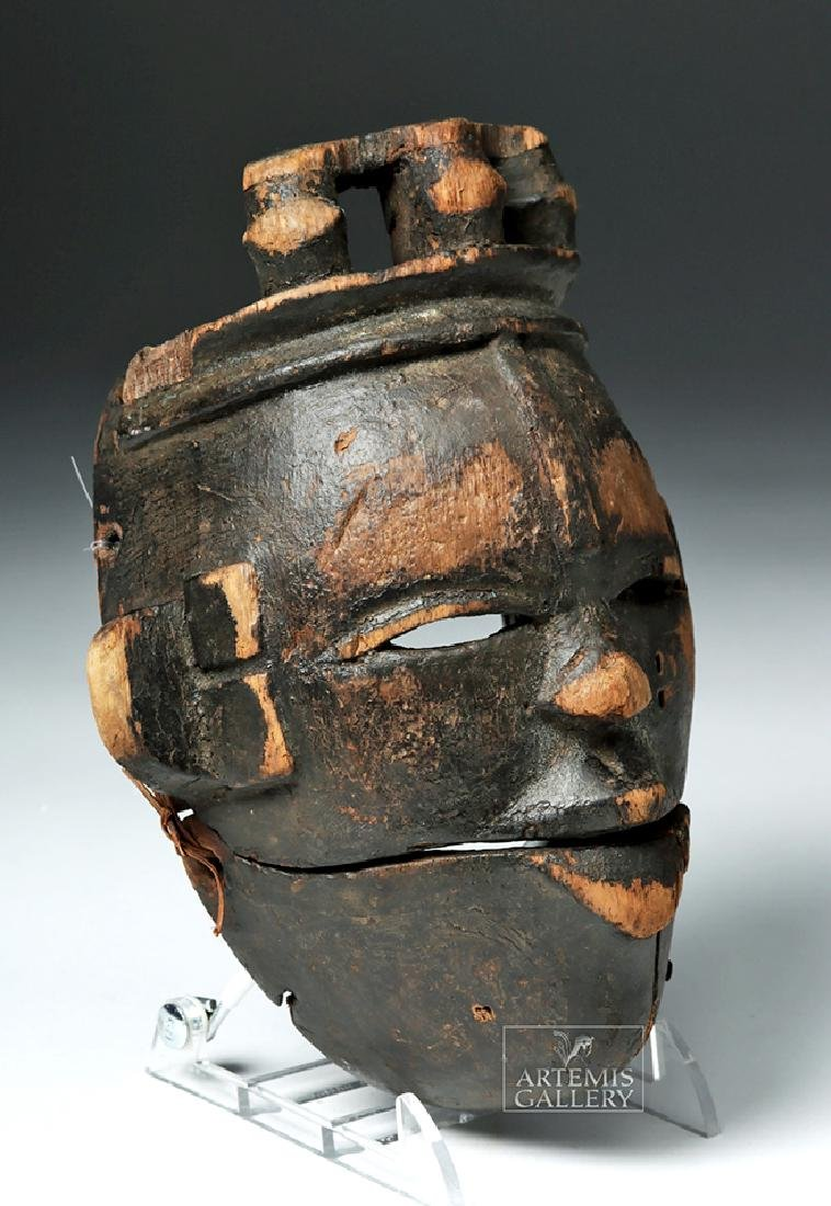 Early 20th C. Nigerian Ogoni Articulated Wood Mask - 3
