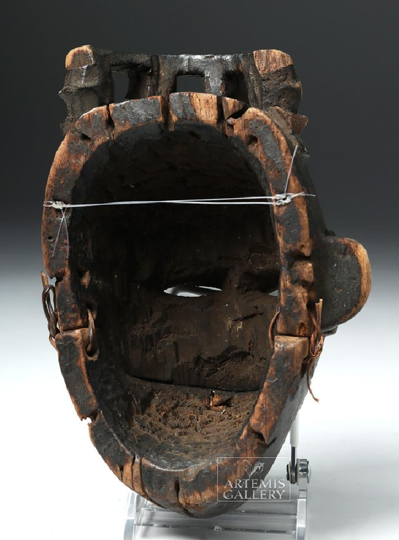 Early 20th C. Nigerian Ogoni Articulated Wood Mask - 4