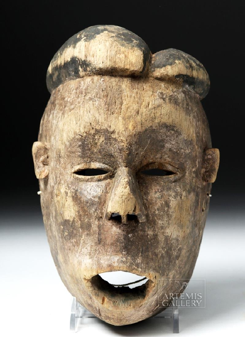 Early 20th C. Nigerian Ogoni Wood Mask