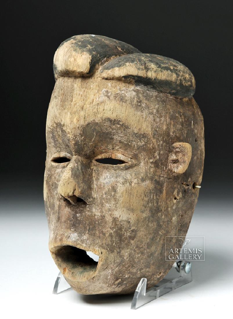 Early 20th C. Nigerian Ogoni Wood Mask - 2