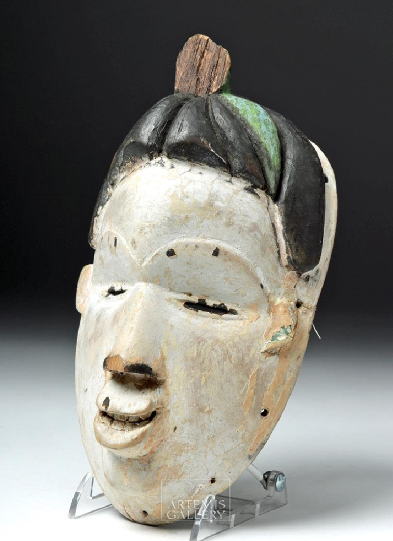 Early 20th C. Nigeria Igbo Wood Female Spirit Mask