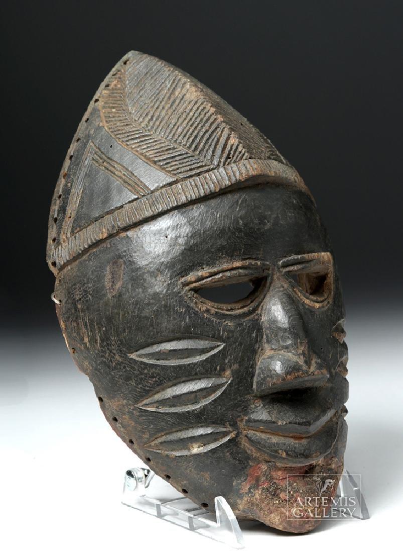Early 20th C. Nigerian Yoruba Wood Mask