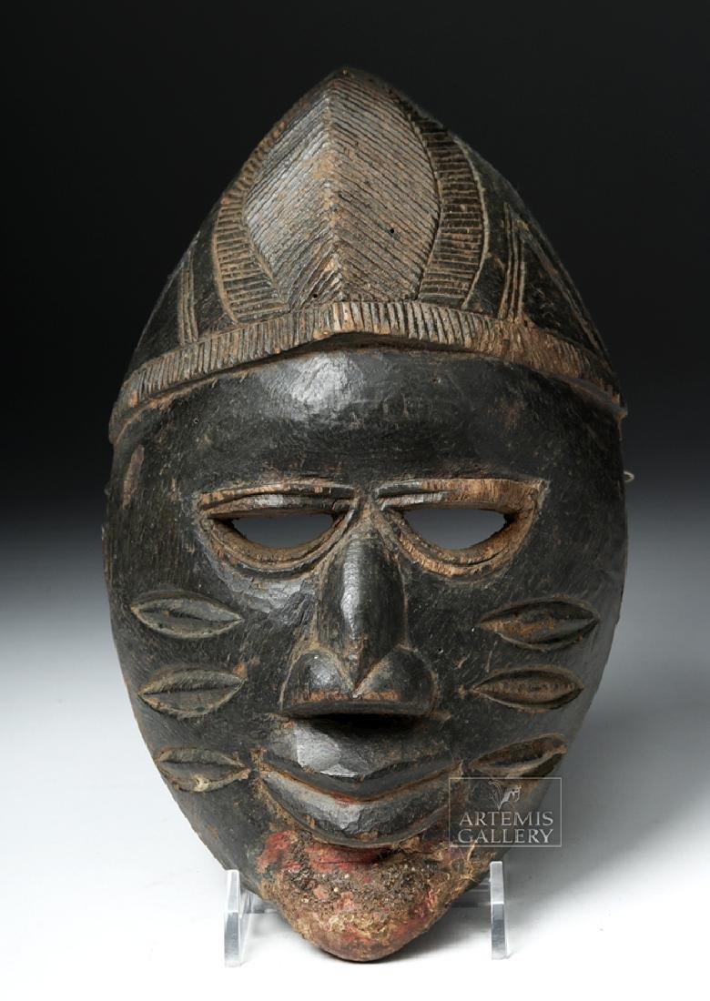 Early 20th C. Nigerian Yoruba Wood Mask - 2