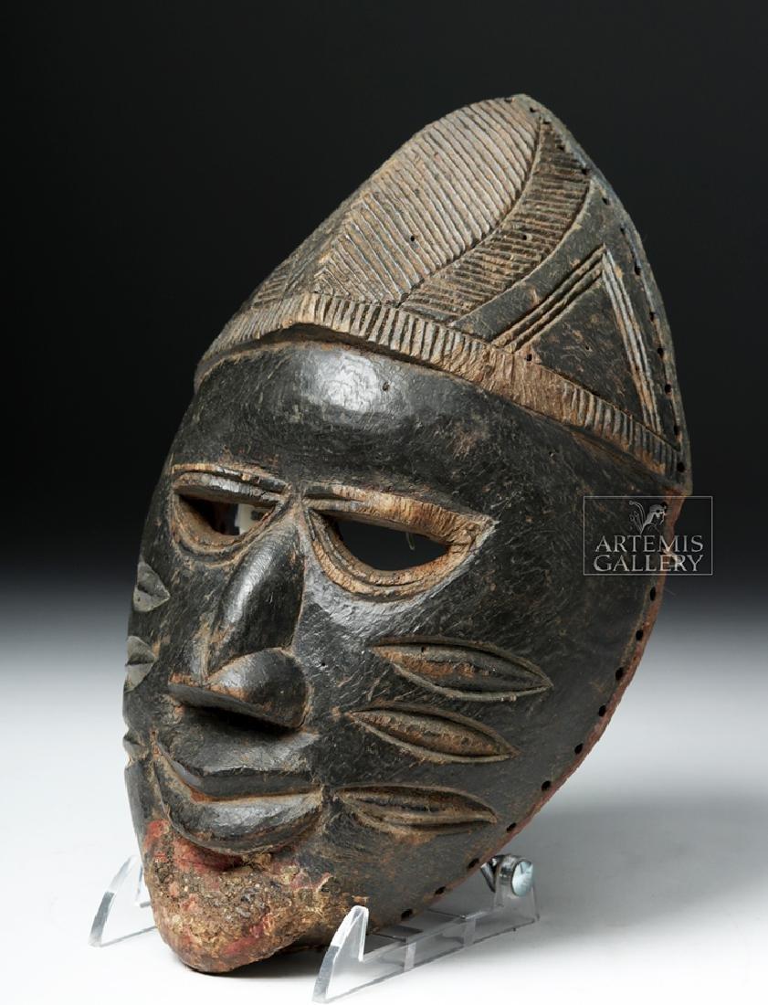 Early 20th C. Nigerian Yoruba Wood Mask - 3