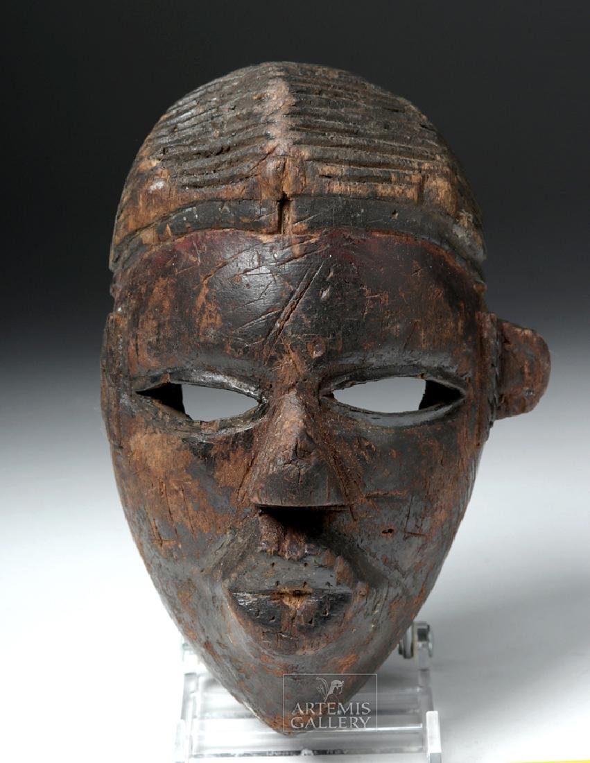 Early 20th C. African Ogoni Wooden Dance Mask